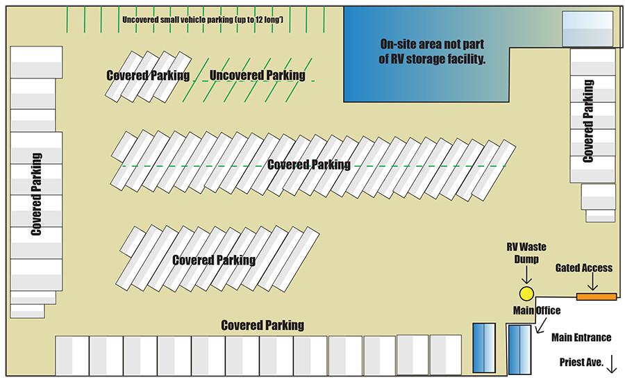 Mesa RV Storage Facility Map